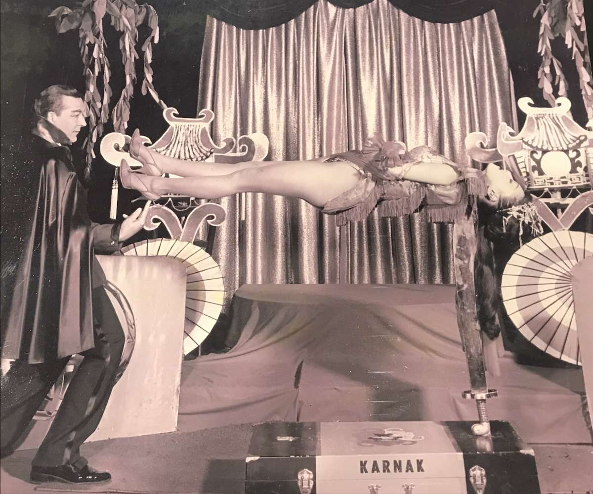 Coby Yee performs in a magic act at the Forbidden City on Sept. 24, 1966.