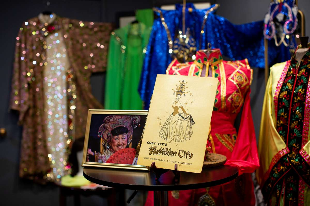 Some of the memorabilia on display at the Showgirl Magic Museum in San Francisco on July 29, 2021. The museum is a tribute to San Francisco's rich mid-20th century nightclub culture.